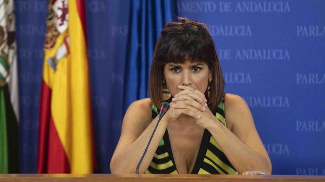 La portavoz de Adelante Andalucía, Teresa Rodríguez.