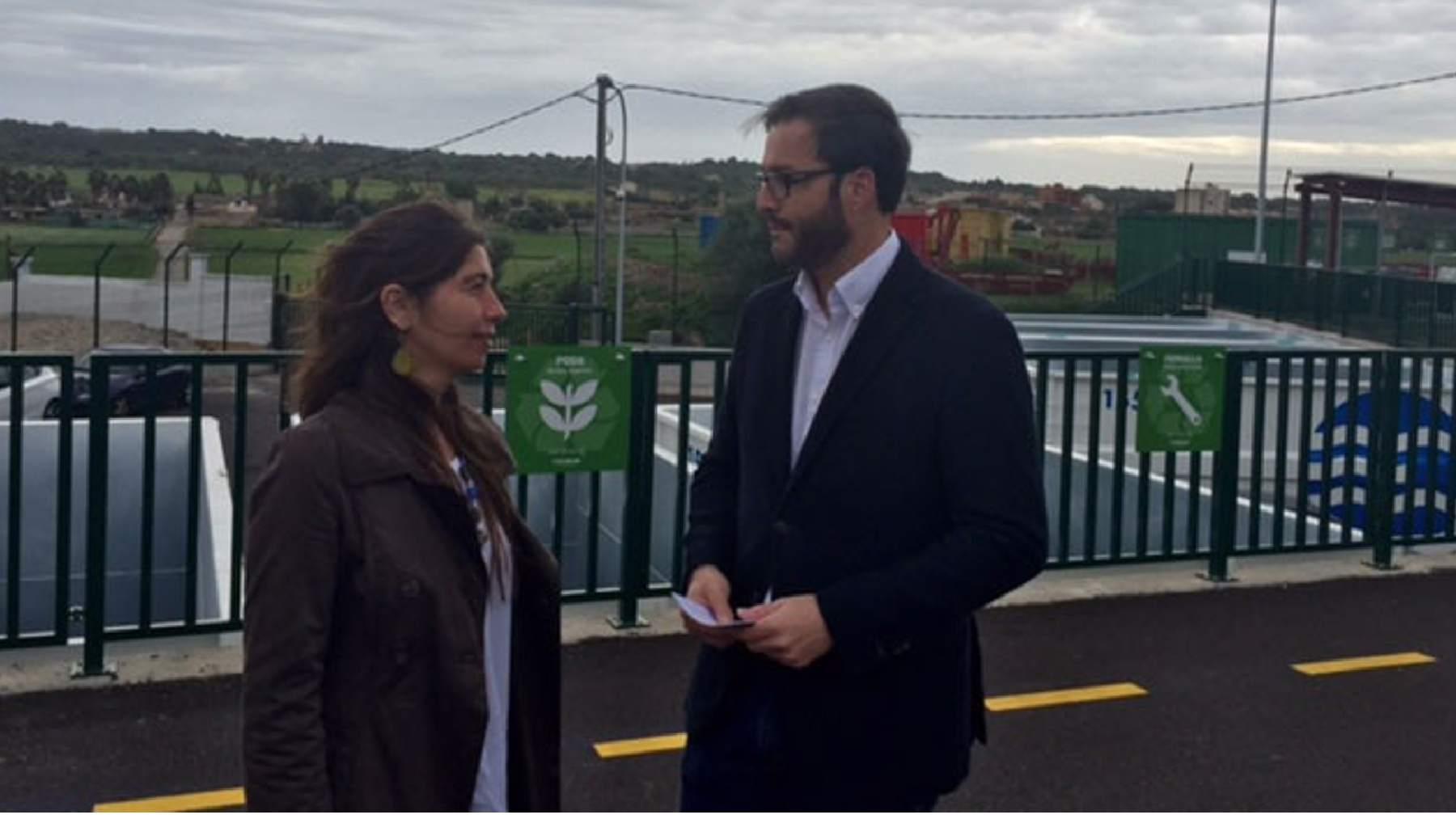 El alcalde socialista de Palma con la edil nacionalista de Més, Neus Truyol.