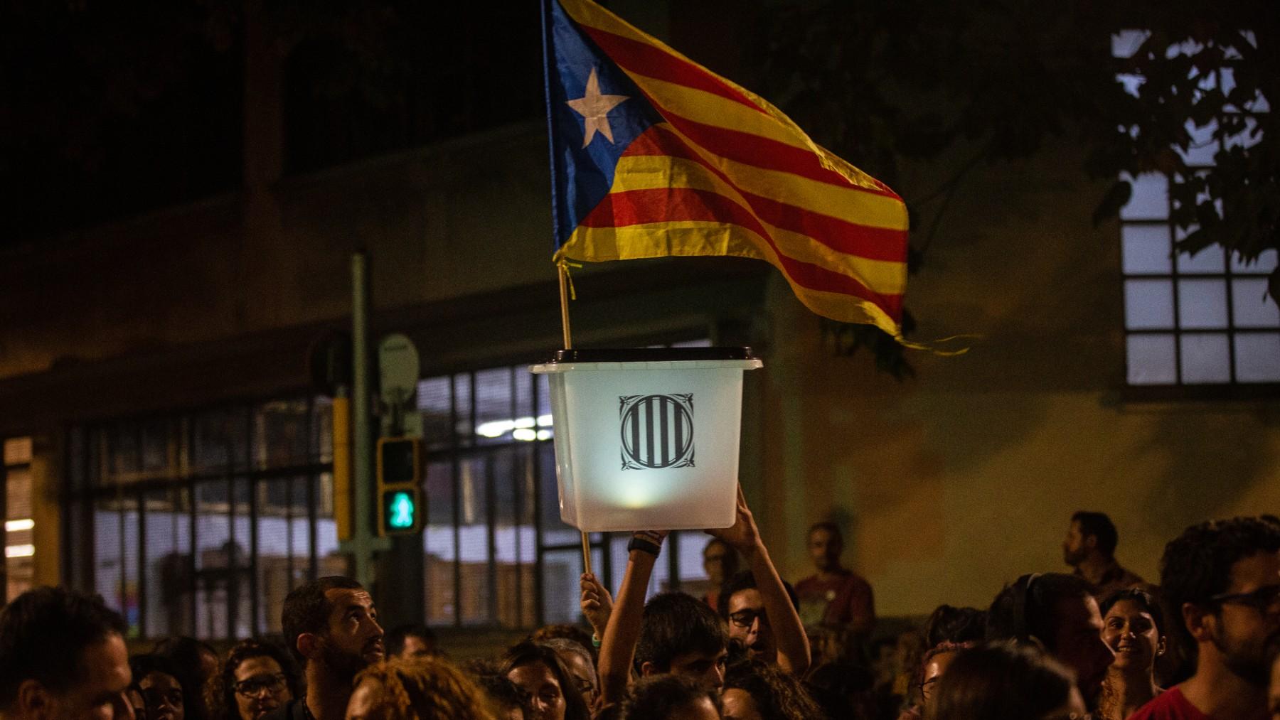 Una de las urnas que se usaron en el 1-O. (Foto: Europa Press)