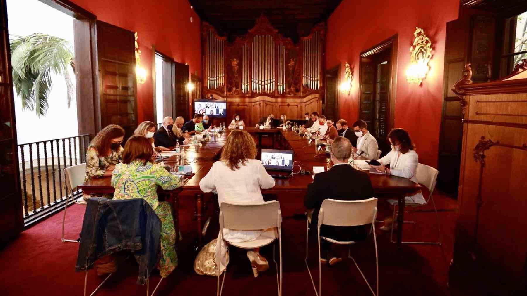 Reunión del Pacto de Reactivación de Baleares por los Fondos Europeos.