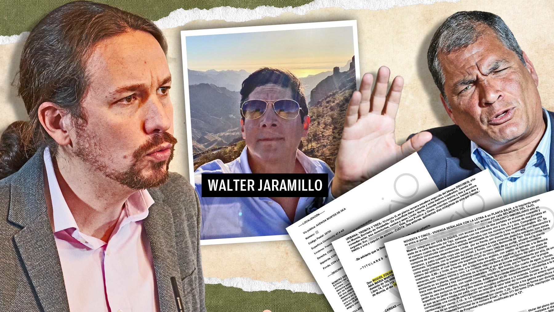 Walter Jaramillo Mena, testaferro de las tapaderas de Podemos financiadas por Rafael Correa.