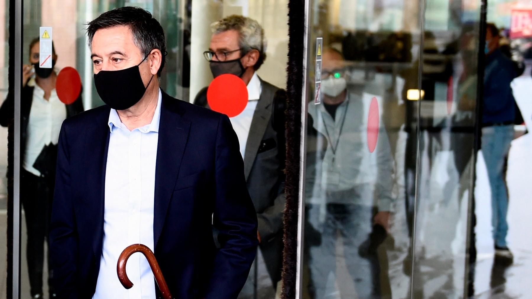 Bartomeu, en la Ciudad de la Justicia de Barcelona por el 'Barçagate'. (EFE)