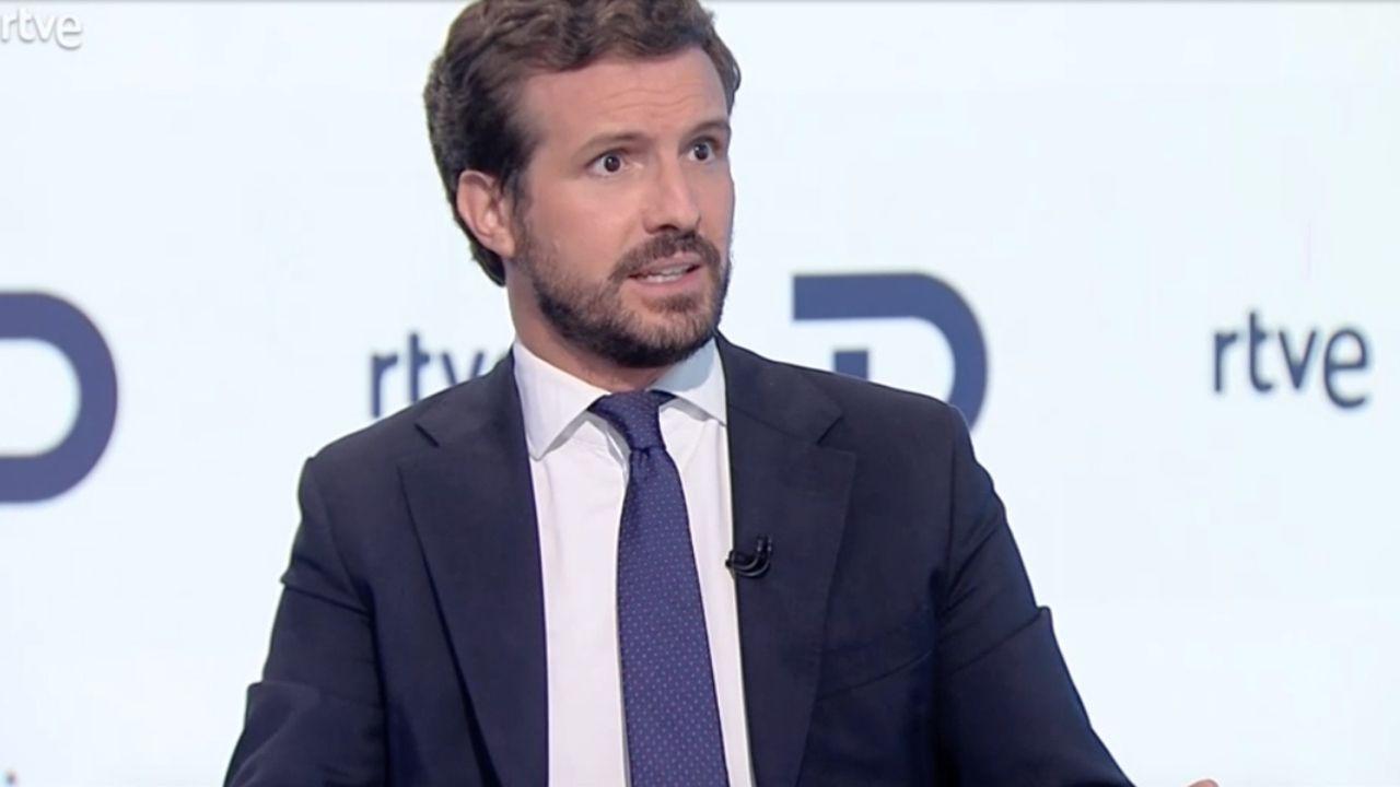 Pablo Casado en el informativo de TVE.