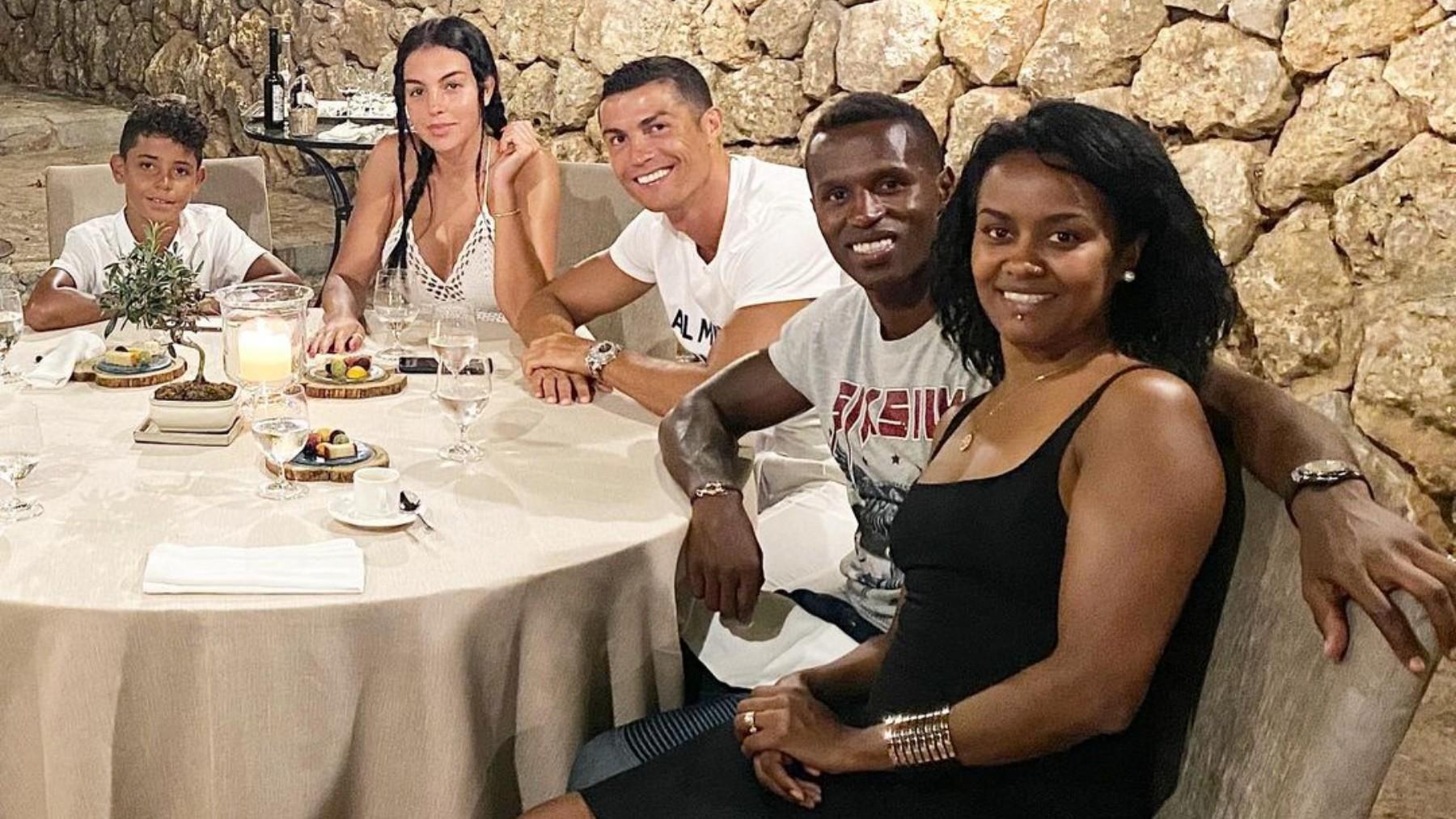 Cristiano Ronaldo, Georgina, Semedo y su mujer Soraia.