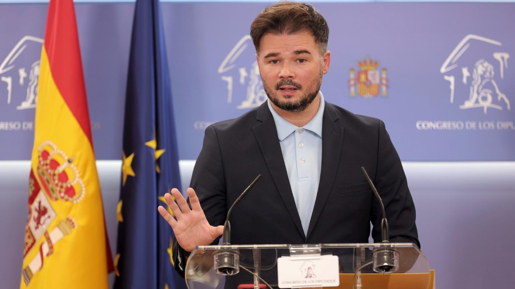 El portavoz de ERC en el Congreso, Gabriel Rufián. (Foto: Europa Press)