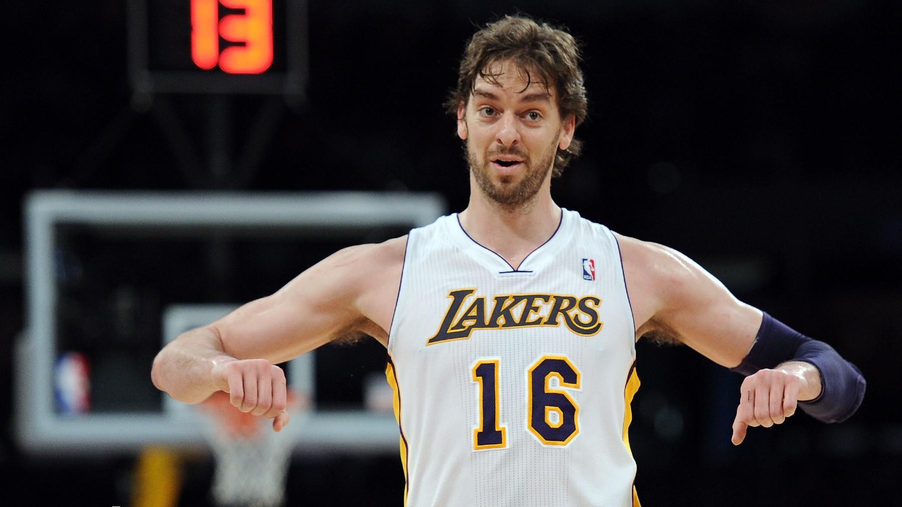 Pau Gasol, en un partido con los Lakers. (Getty)