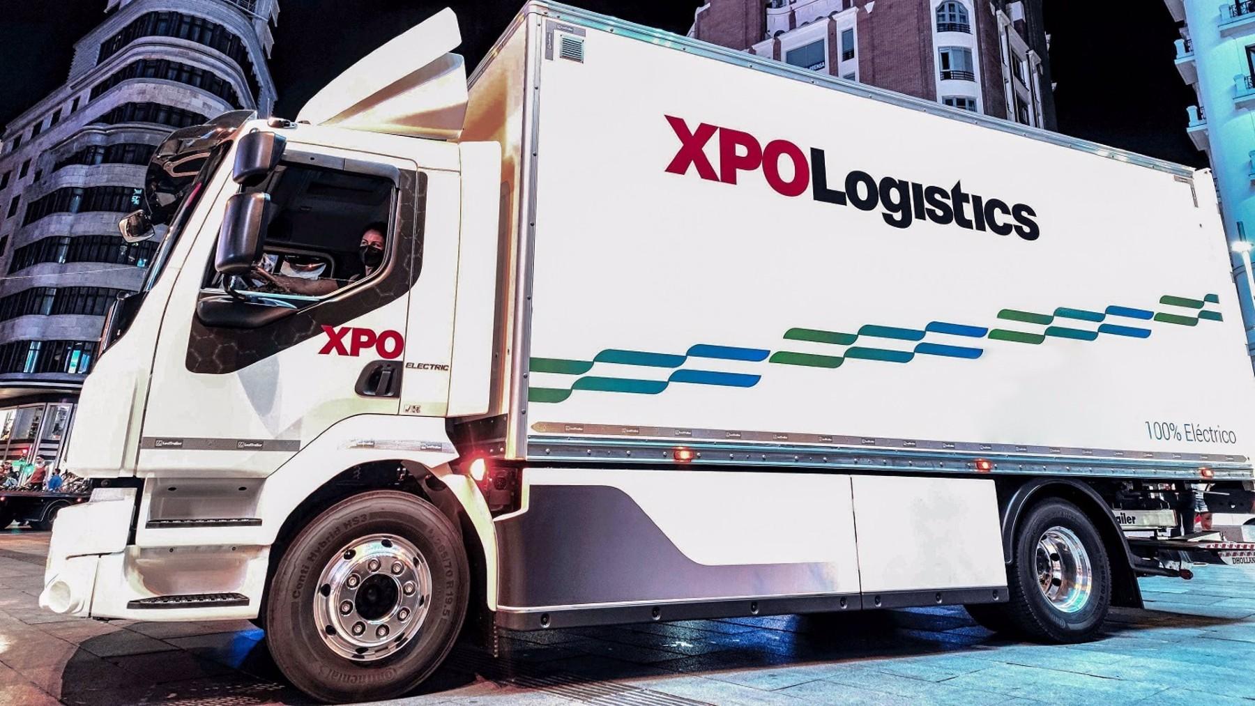 Camión eléctrico Volvo de XPO Logistics.