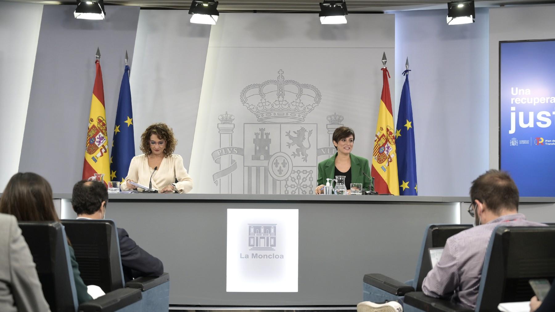 Rueda de prensa sobre los presupuestos del Estado de 2022.