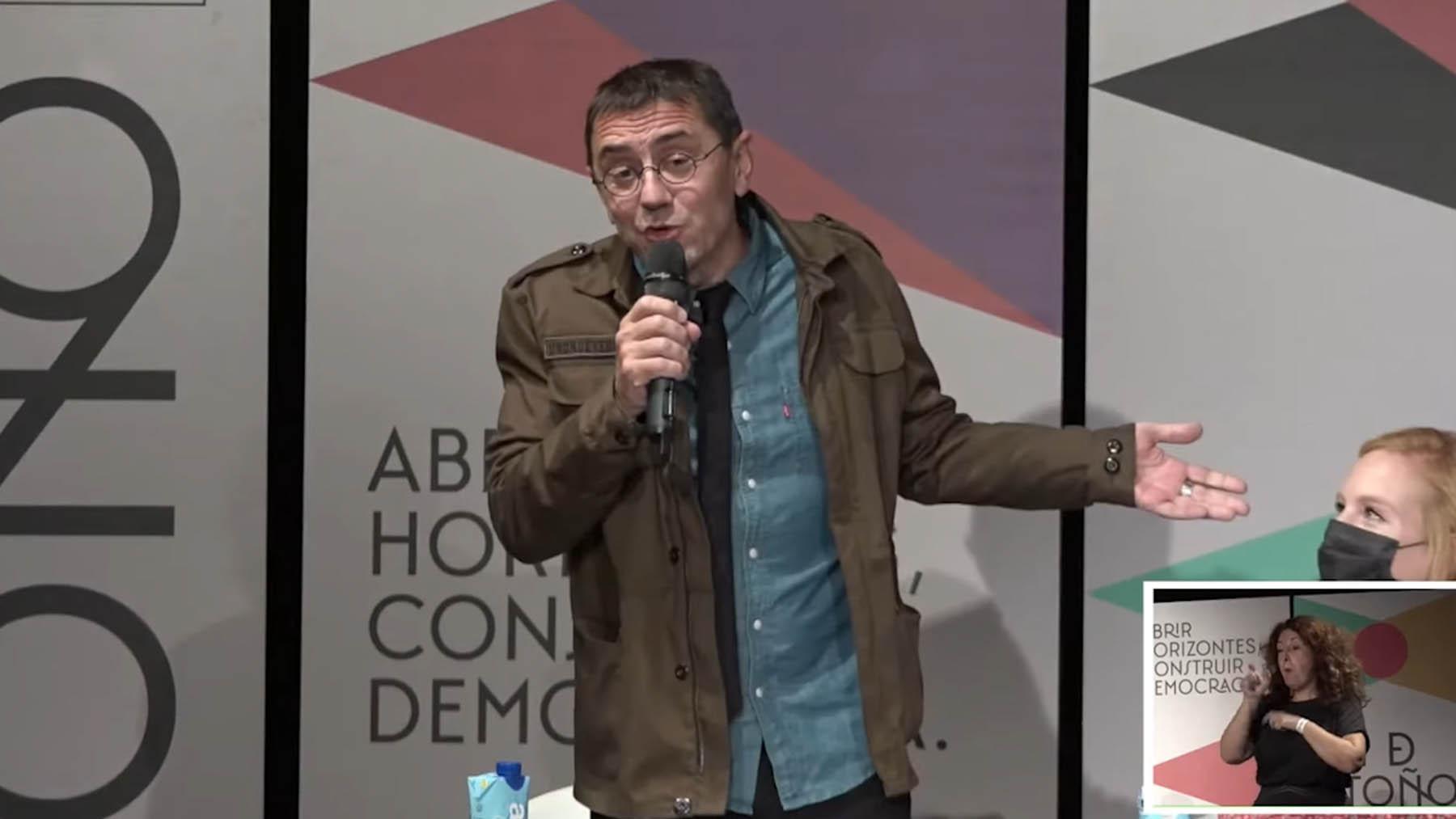 Juan Carlos Monedero en la 'Uni de Otoño de Podemos'.