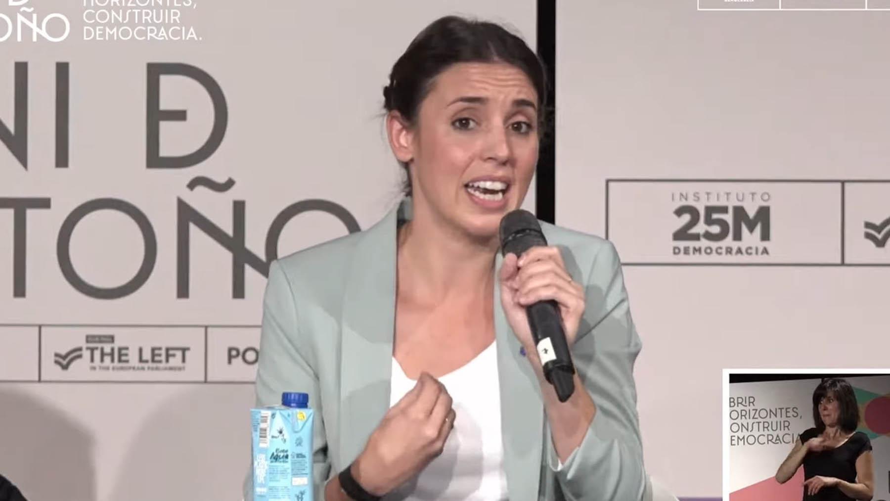 Irene Montero en la 'Uni de Otoño de Podemos'.