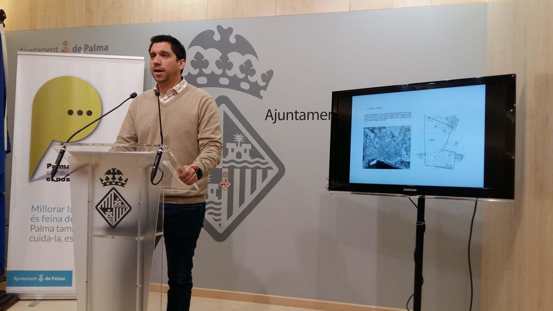 El concejal de Promoción Económica del Ayuntamiento de Palma, Rodrigo Romero (UP).