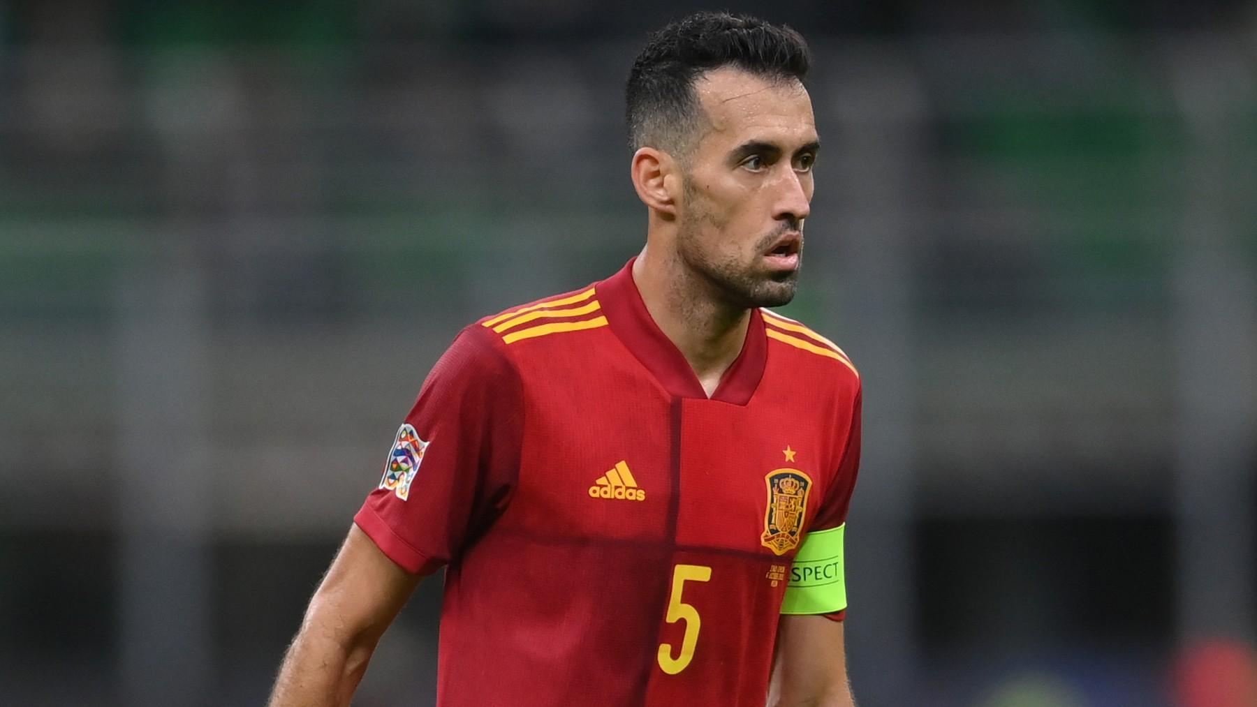 Sergio Busquets, en el partido contra Francia. (Getty)