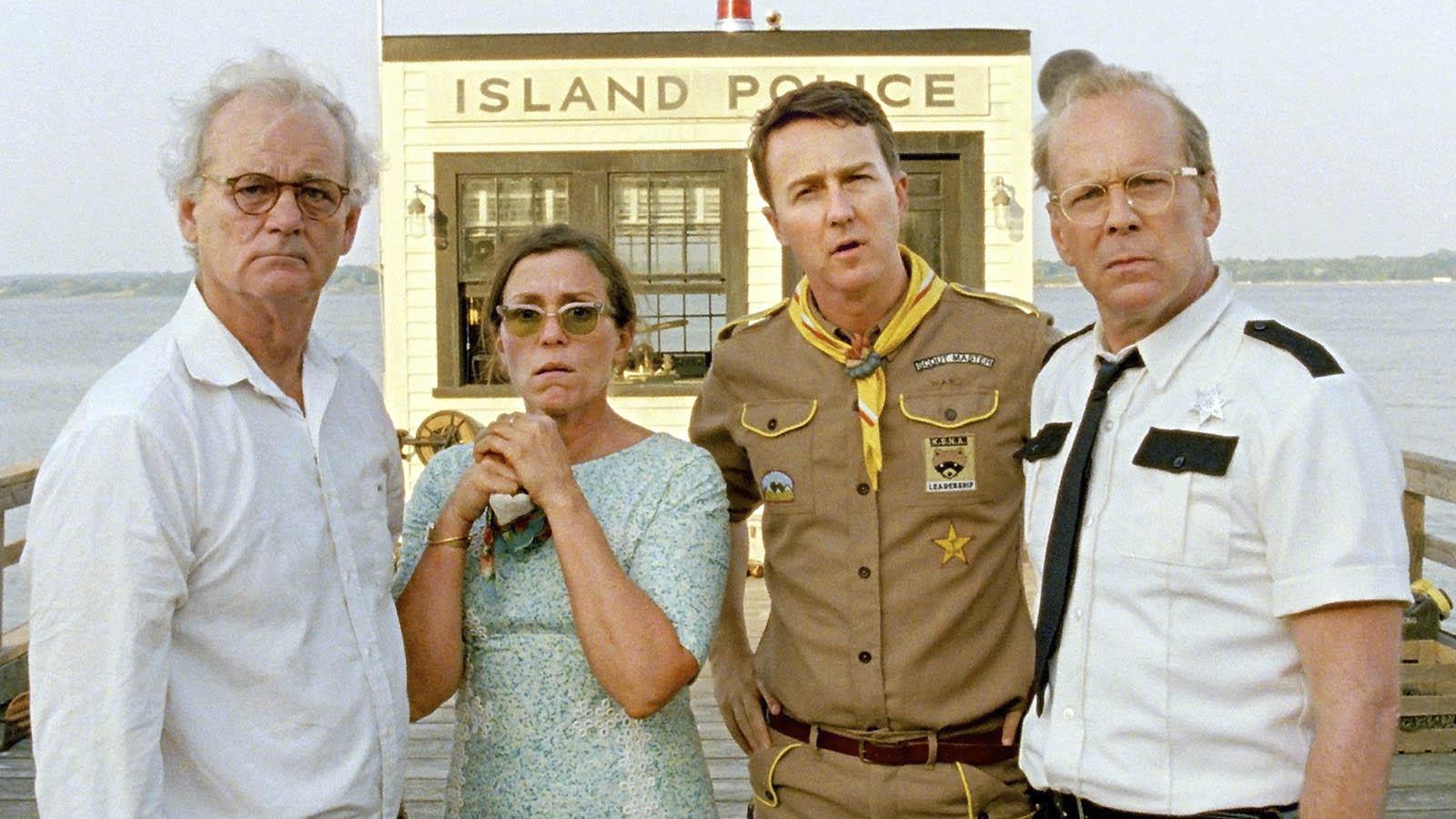 Bill Murray (Izquierda) en «Moonrise Kingdom» (Focus features)