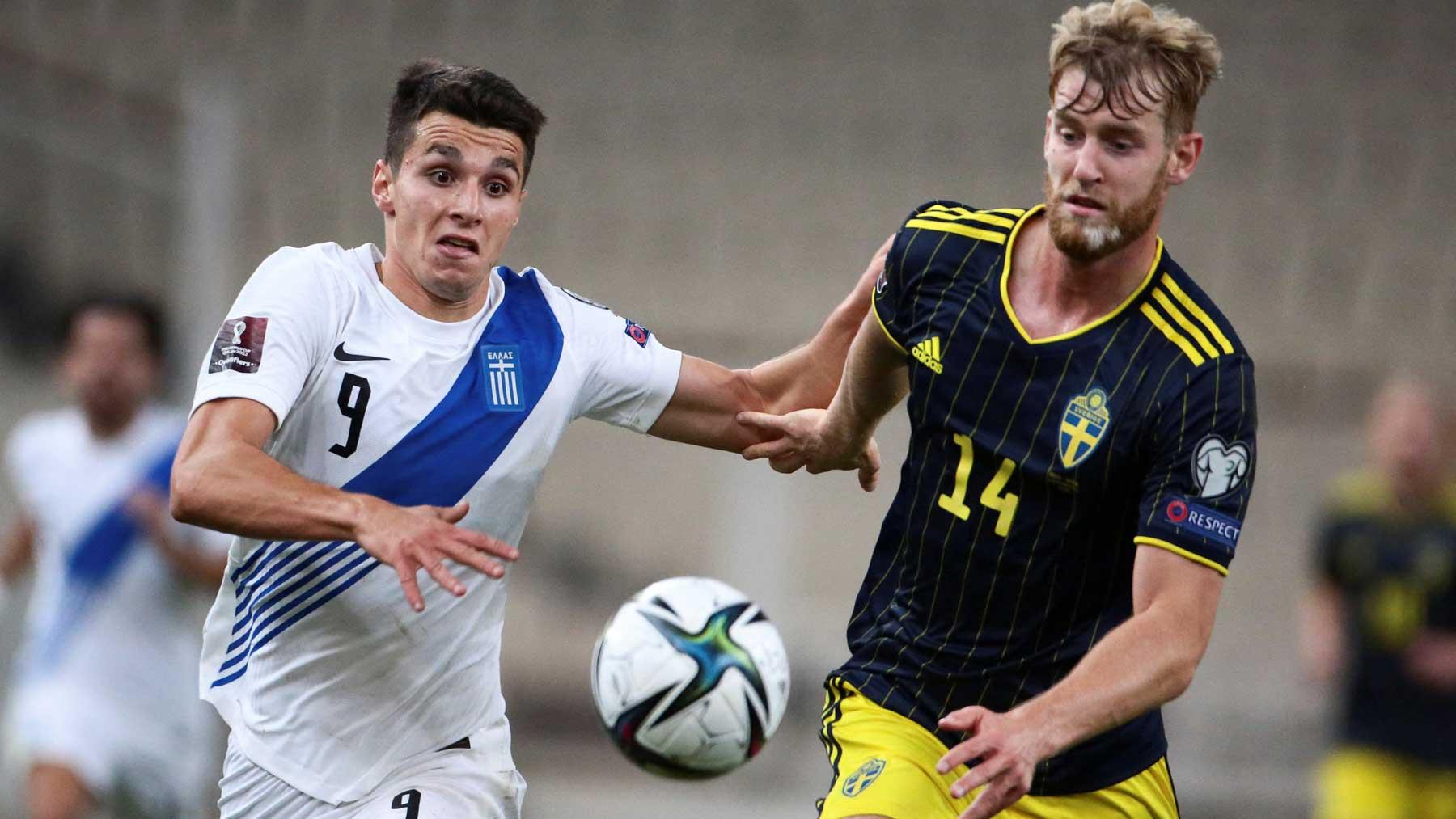 Partido entre Grecia y Suecia de clasificación para el Mundial de 2022 (AFP)