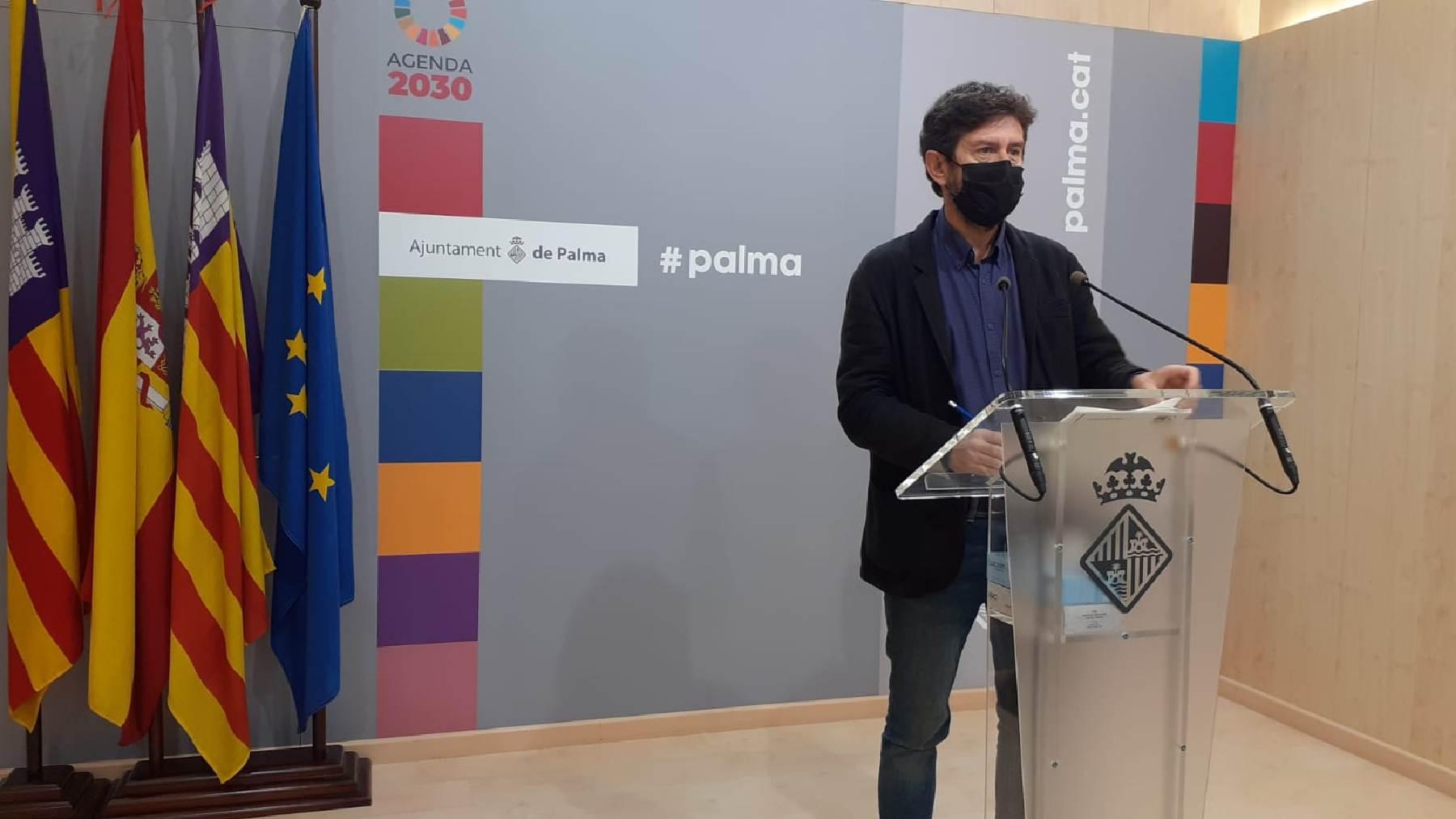 El portavoz del Ayuntamiento de Palma, Alberto Jarabo (Unidas Podemos).