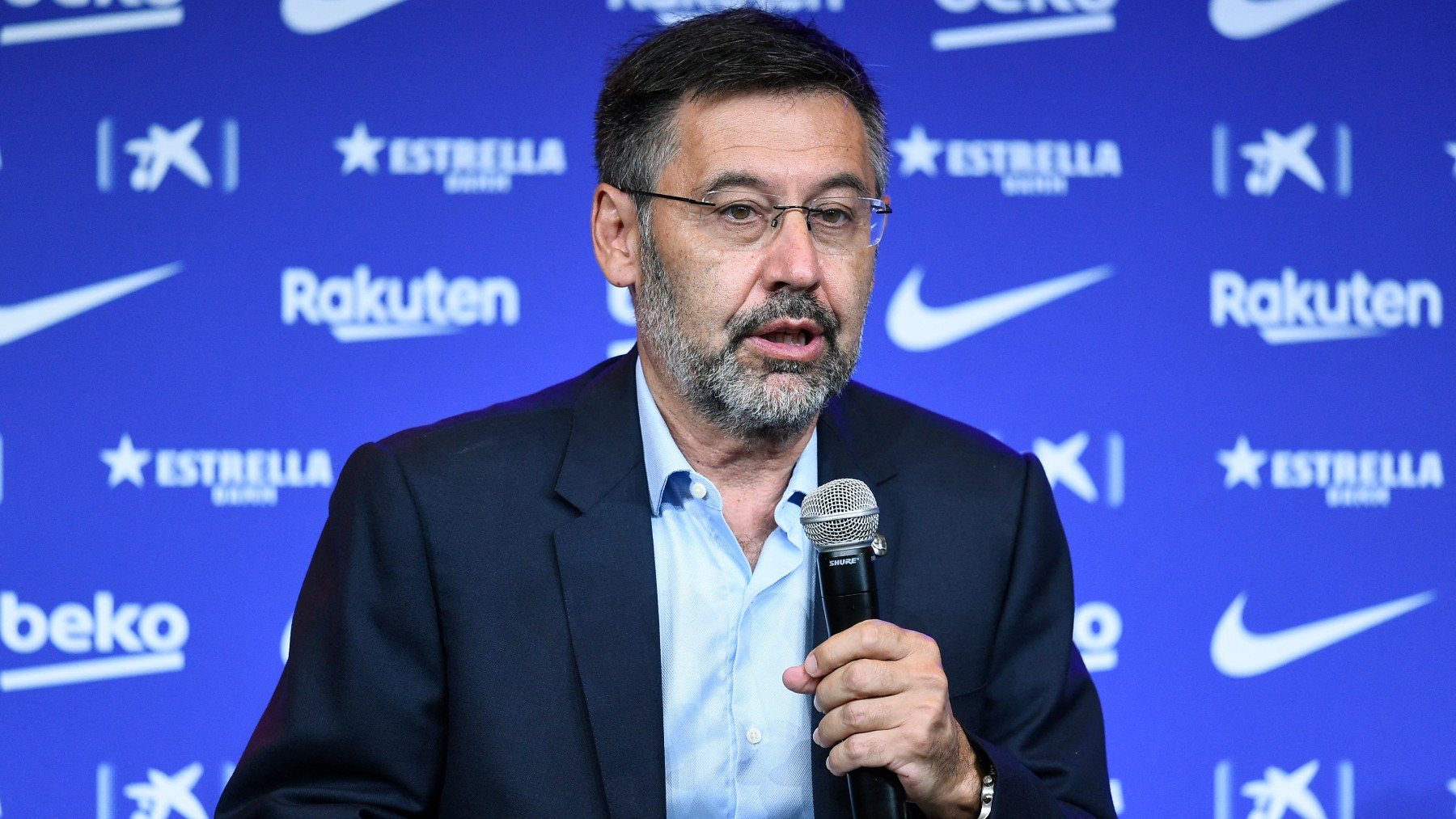 Bartomeu, durante su etapa como presidente del Barcelona. (AFP)