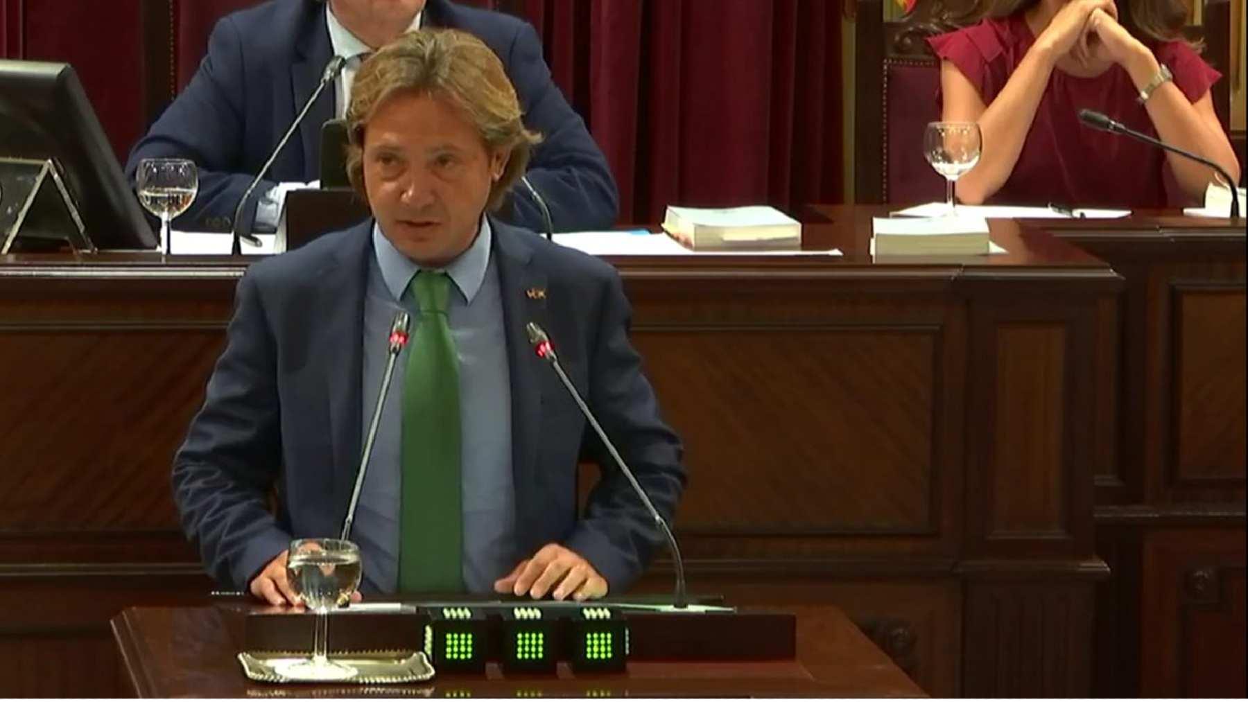 Jorge Campos en el Parlament.