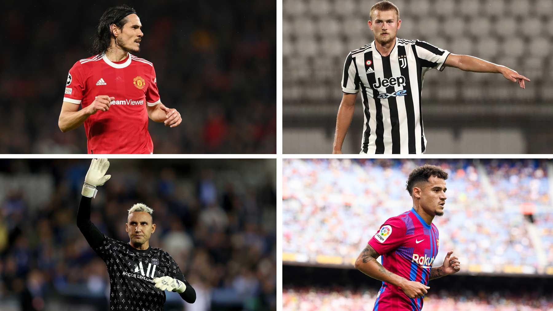 Cavani, De Ligt, Navas o Coutinho son algunos de los nombres que suenan para el Newcastle (Getty)