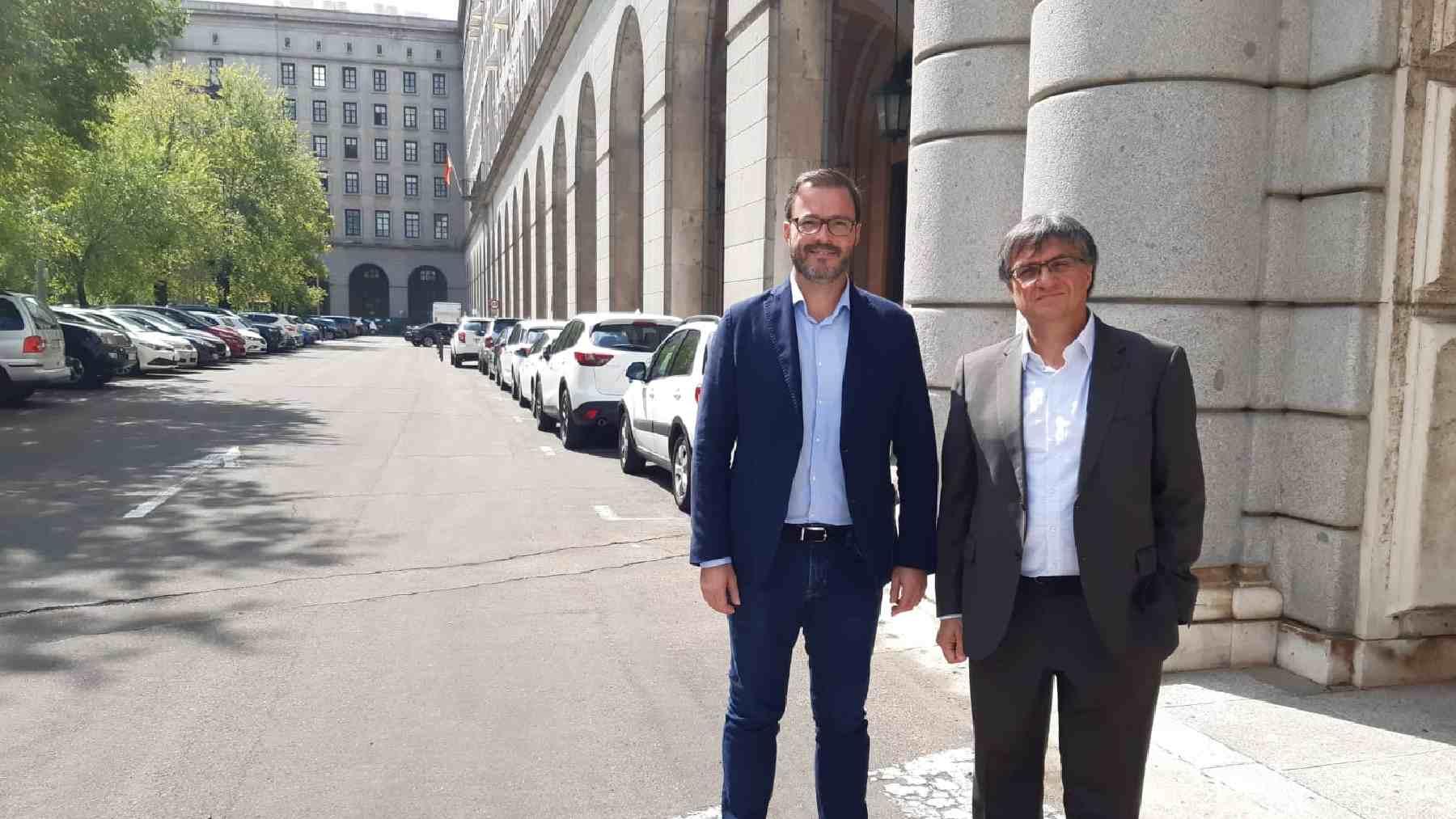 El alcalde de Palma, José Hila, y el presidente de la compañía municipal de limpieza, Ramón Perpinyà.