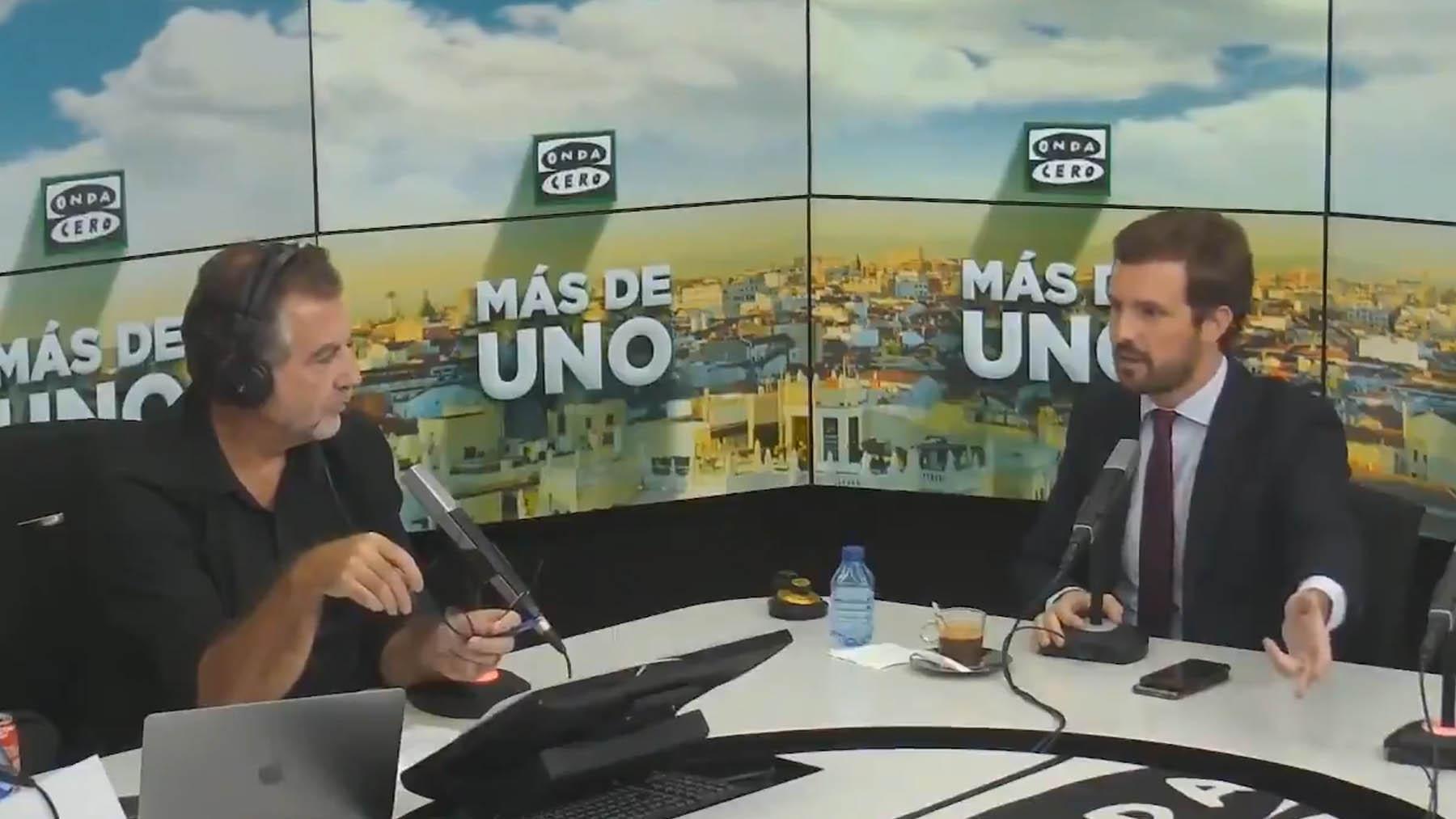 Pablo Casado en 'Onda Cero'.