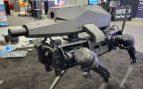 Perro robot con rifle