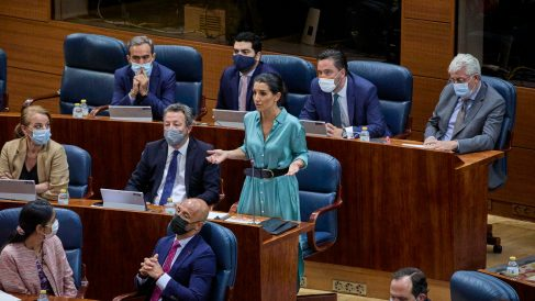 Diputados de Vox en la Asamblea de Madrid.