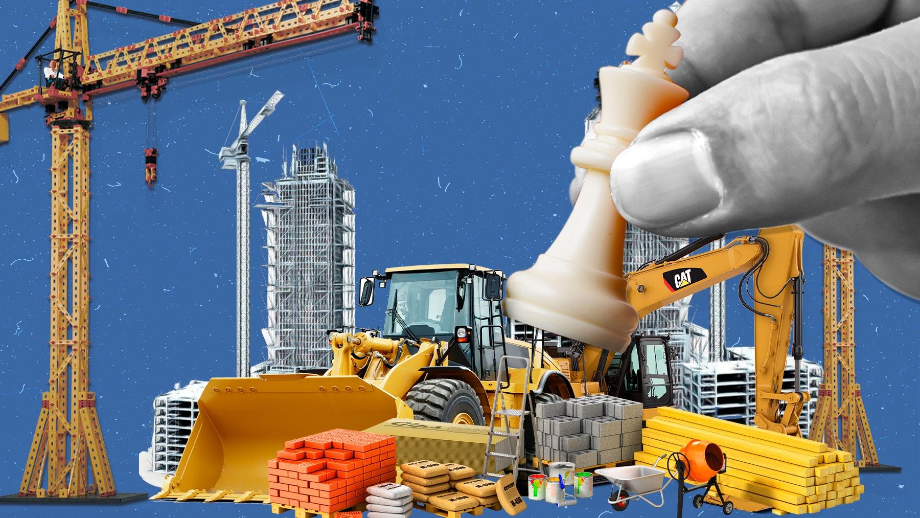 Falta materias primas en la construcción.