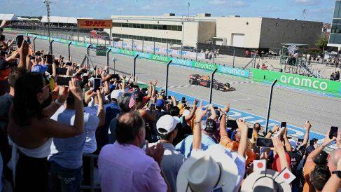 Max Verstappen gana el GP de Estados Unidos. (AFP)