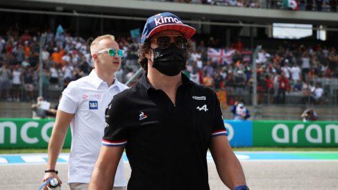Fernando Alonso se enfadó en el Gran Premio de las Américas. (Getty)