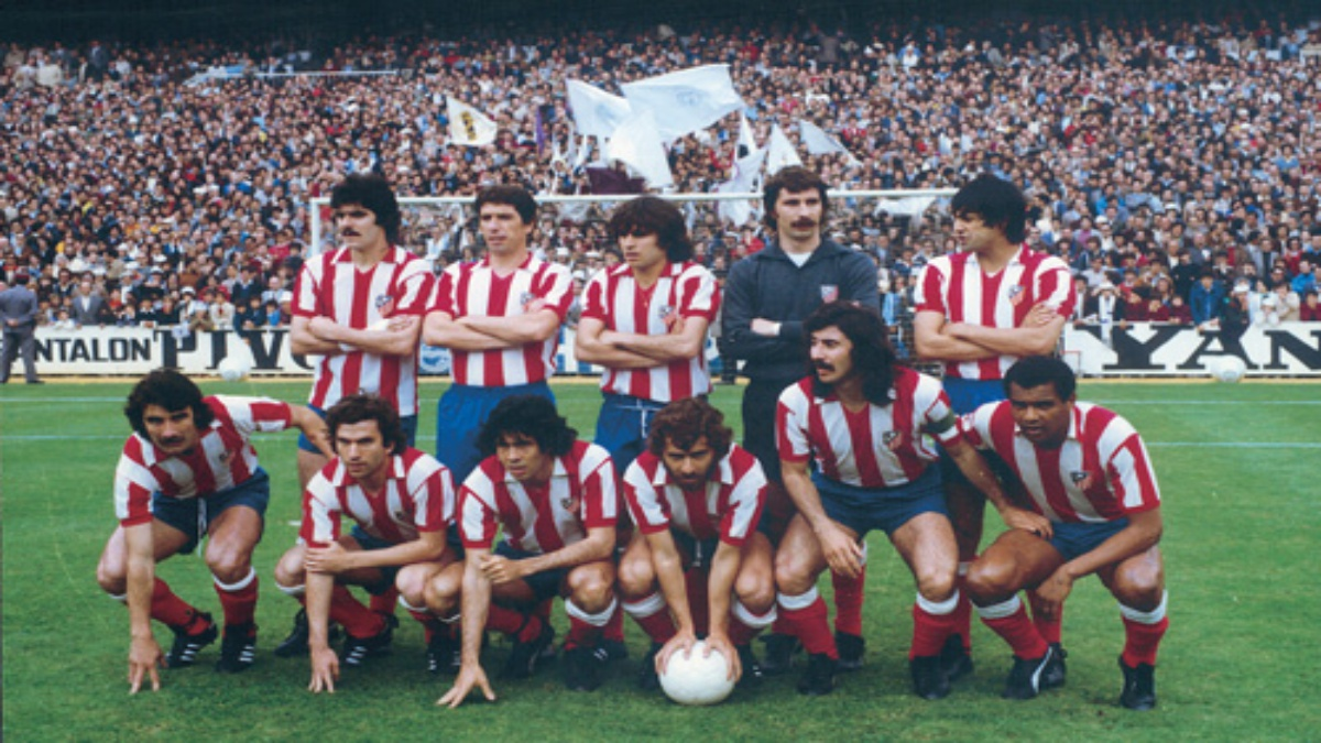 Formación inicial del Atlético en 1977