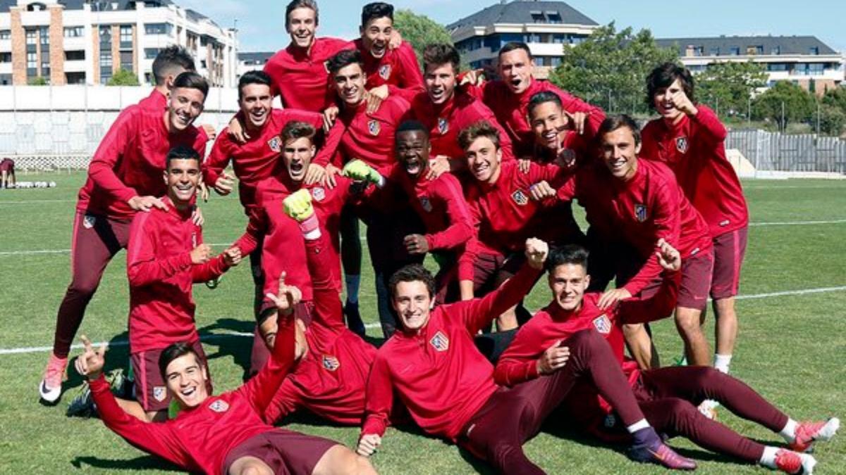 Los jugadores del Atlético Juvenil A