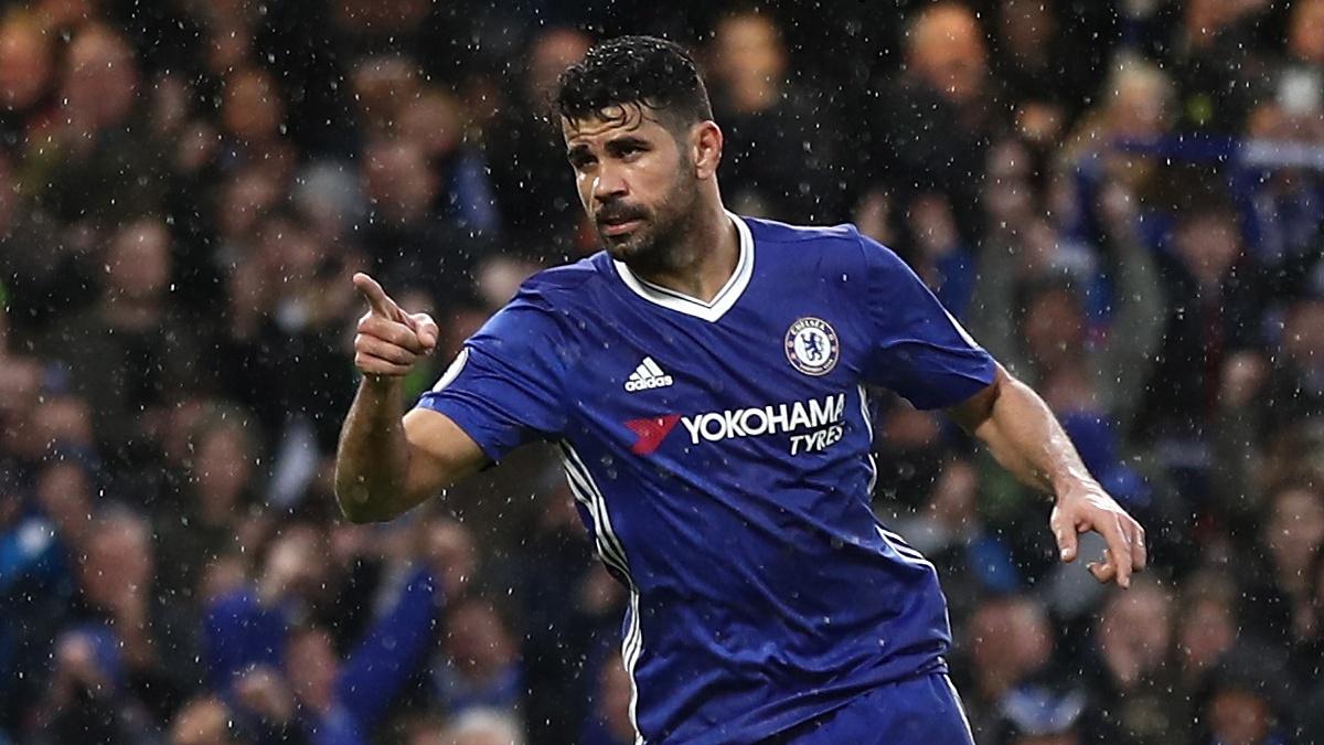 Diego Costa, después de anotar un tanto con el Chelsea
