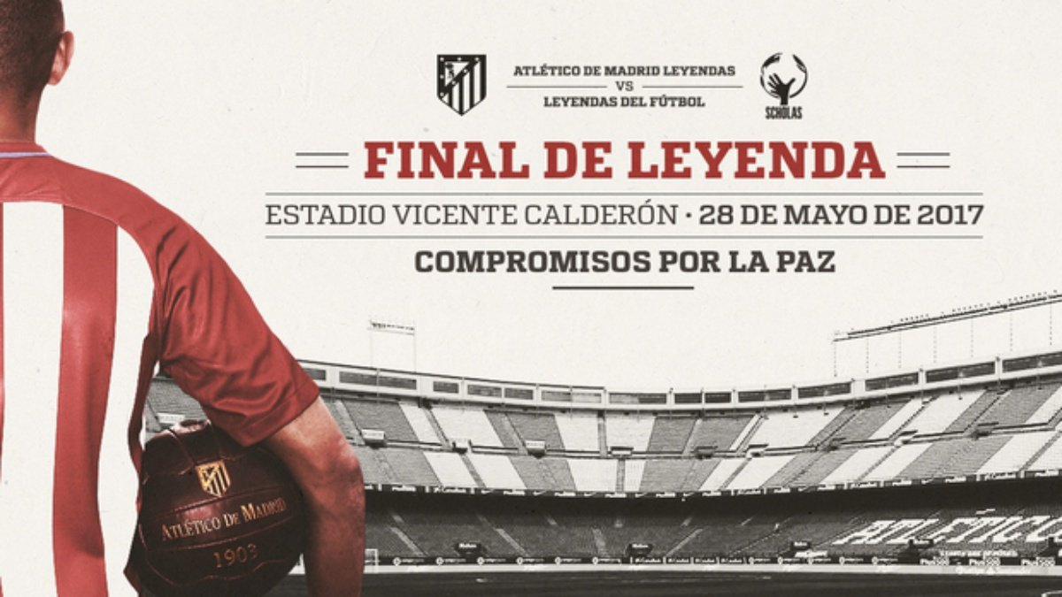Cartel del Final de Leyenda del Vicente Calderón