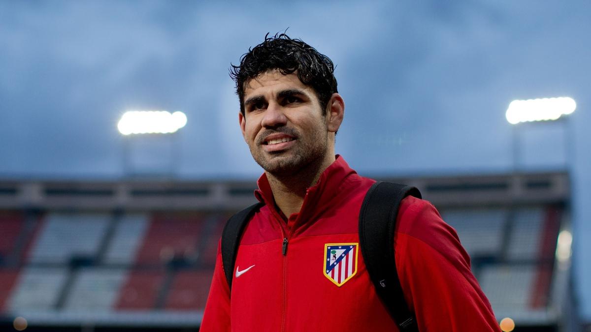 Diego Costa, en el Vicente Calderón