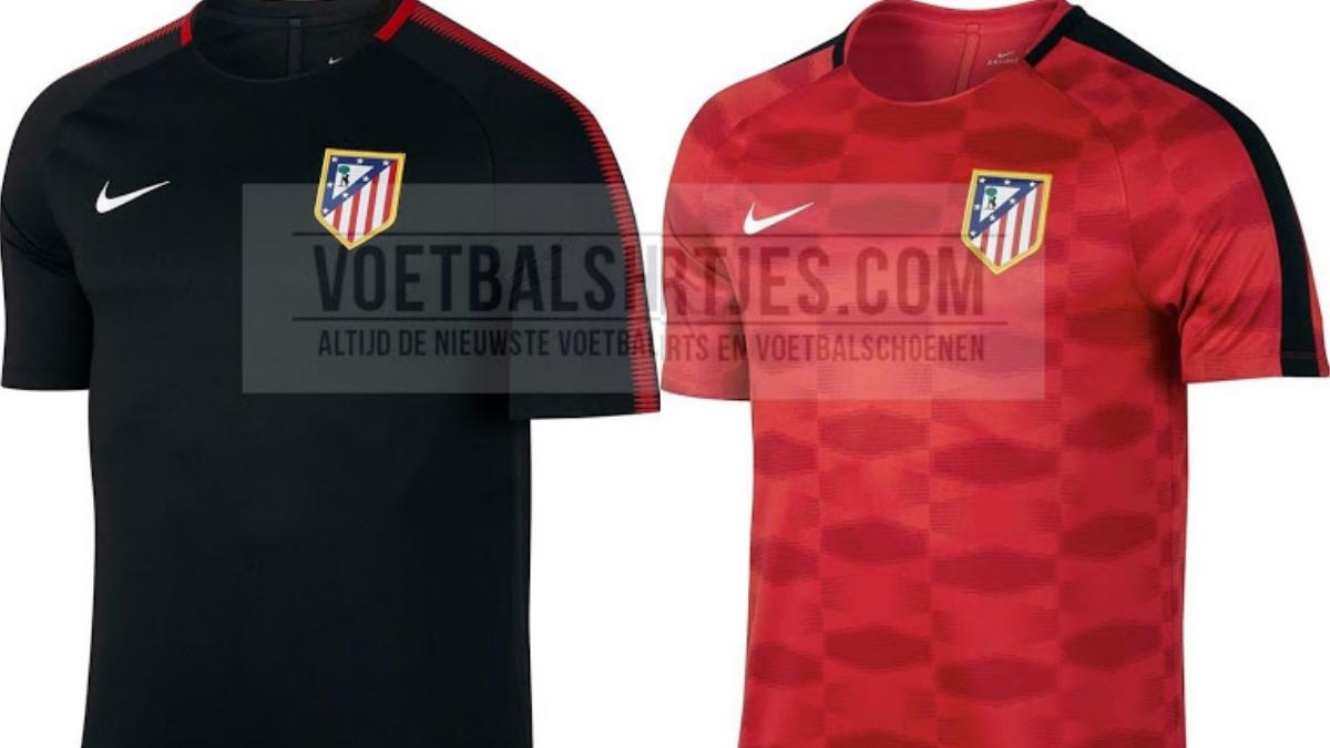 Equipaciones de entrenamiento del Atlético para la temporada 17/18