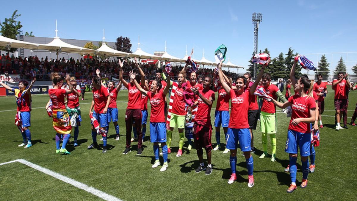 El Atlético Femenino celebra la Liga Iberdrola