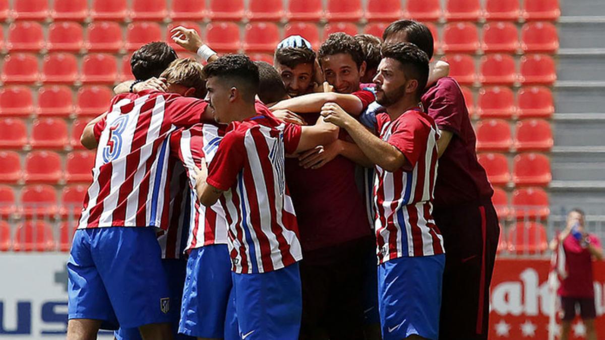 El Atlético Madrid Juvenil celebra la victoria ante el Celta. (atleticomadrid.com)