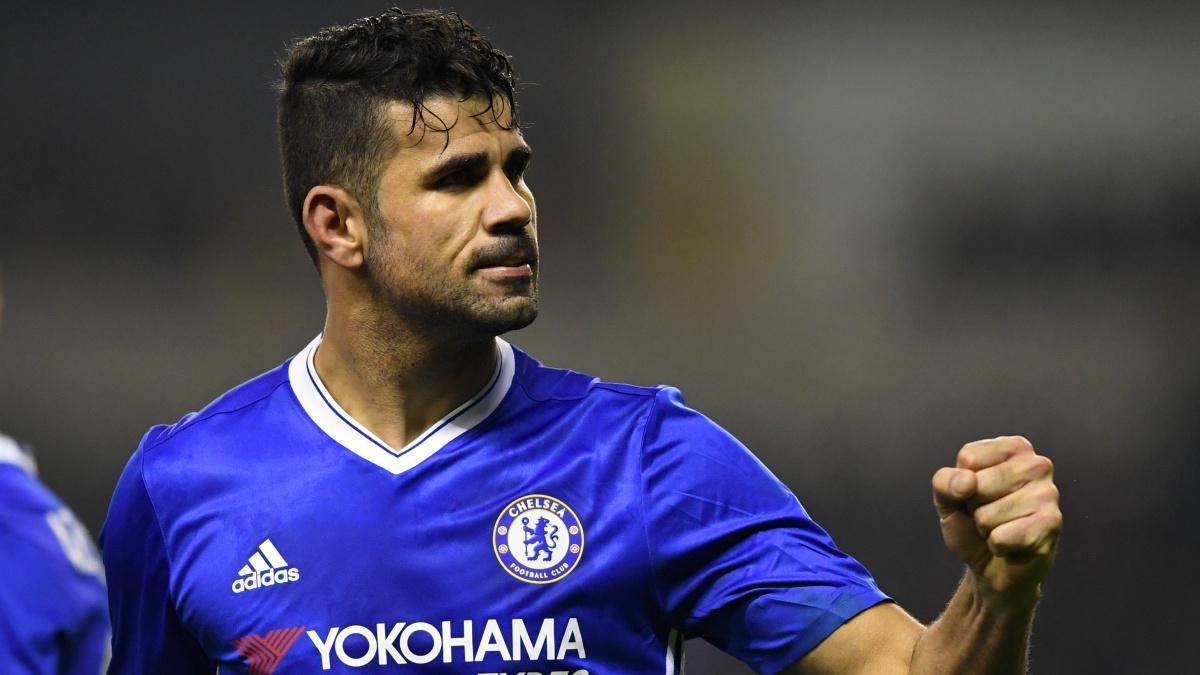 Diego Costa, durante un encuentro con el Chelsea