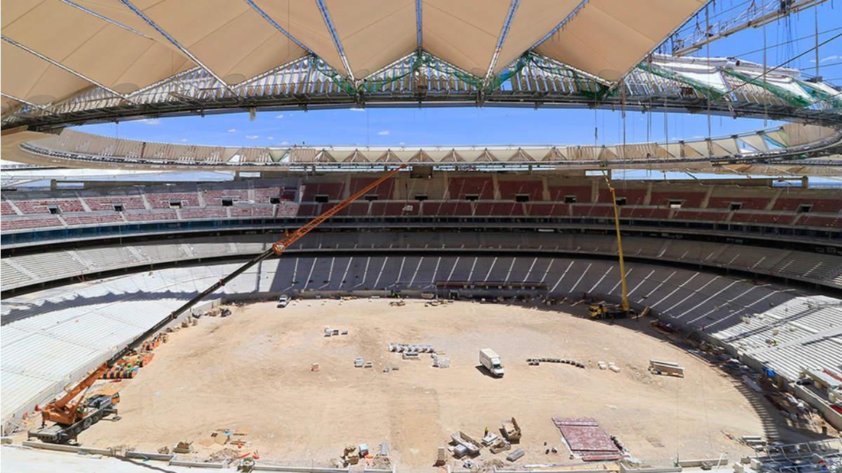 Así están las gradas del Wanda Metropolitano. (atleticodemadrid.com)