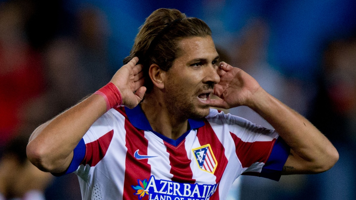 Alessio Cerci celebra un gol con el Atlético de Madrid