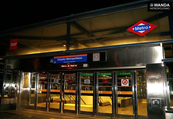 El Wanda Metropolitano ya tiene estación de metro