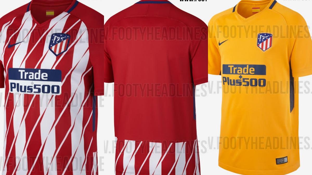 Posibles nuevas camisetas del Atlético de Madrid