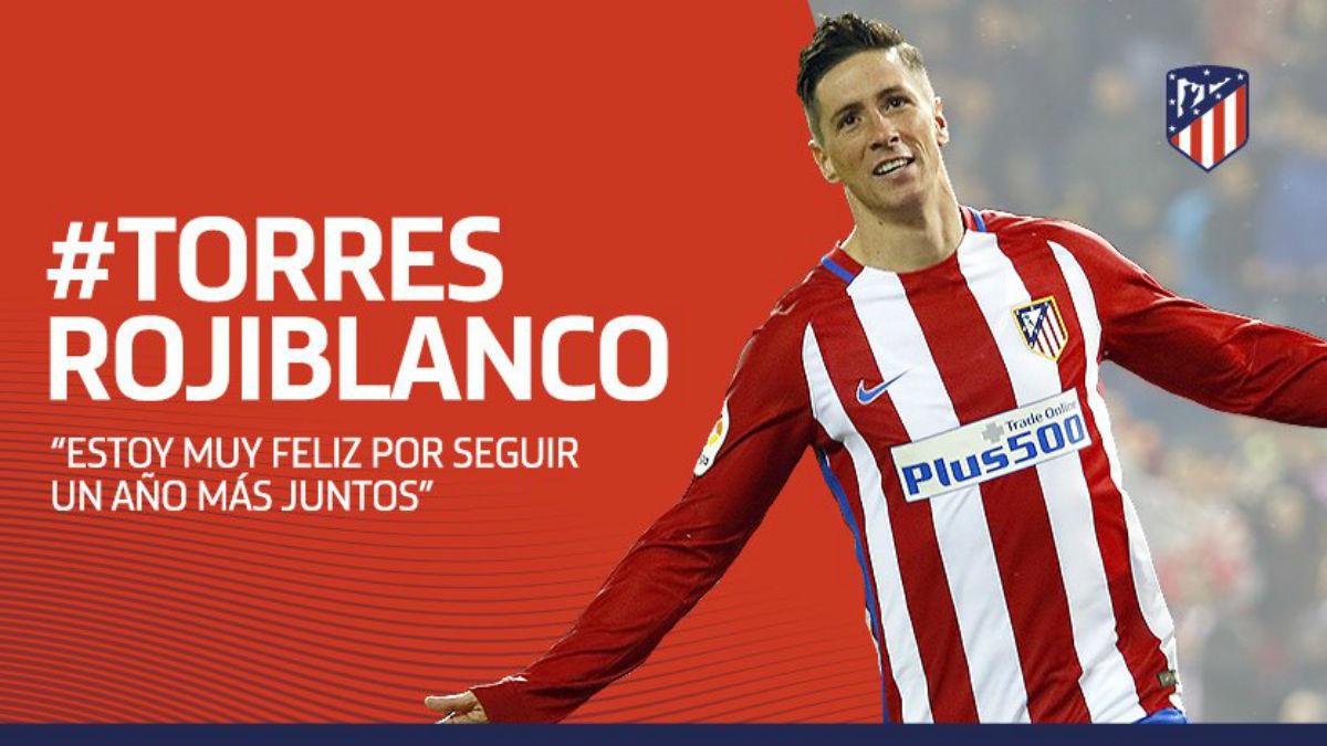 Fernando Torres seguirá un año más en el Atlético. (atleticodemadrid.com)