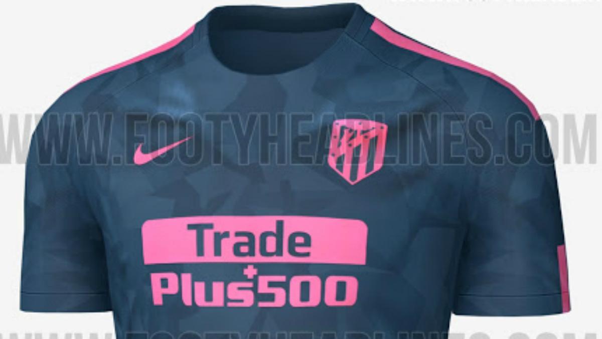 Esta será la posible tercera camiseta del Atlético para la temporada 2017-18.