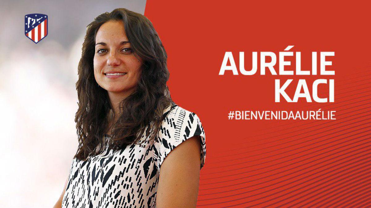 Aurélie Kaci ficha por el Atlético Femenino. (atleticodemadrid.com)