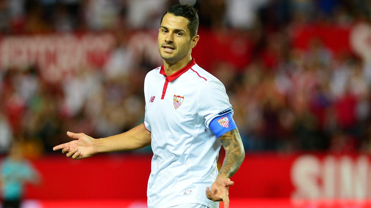 Vitolo, durante un encuentro con el Sevilla