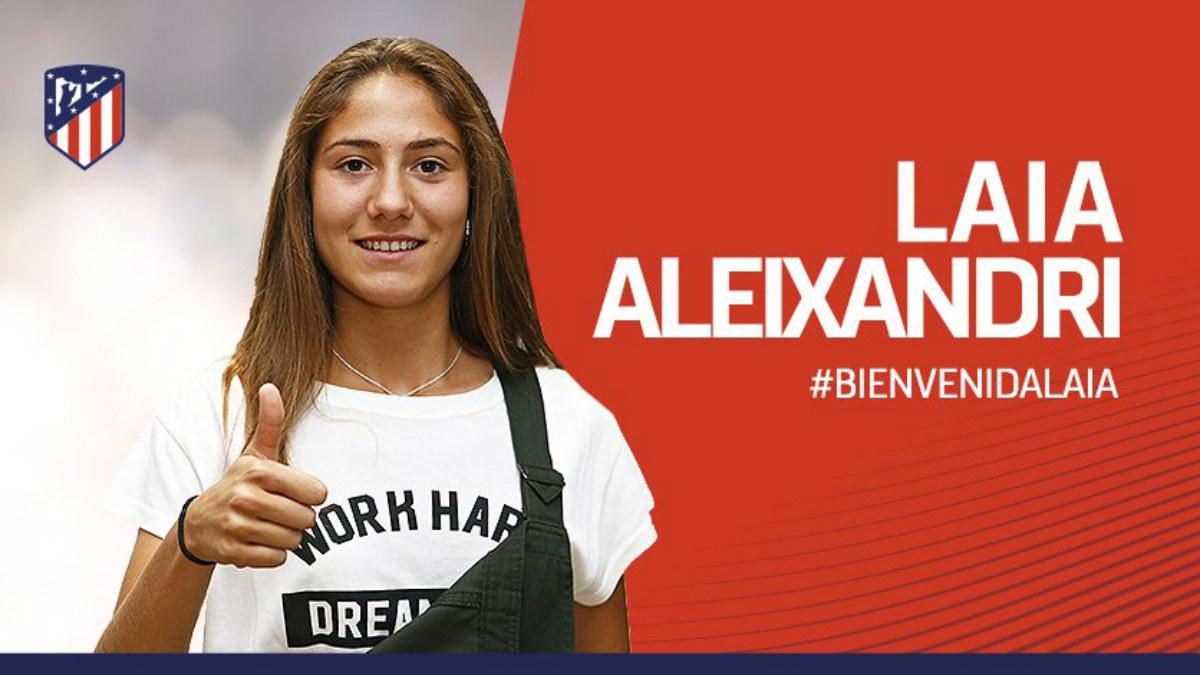Laia, nuevo fichaje del Atlético Femenino. (atleticodemadrid.com)