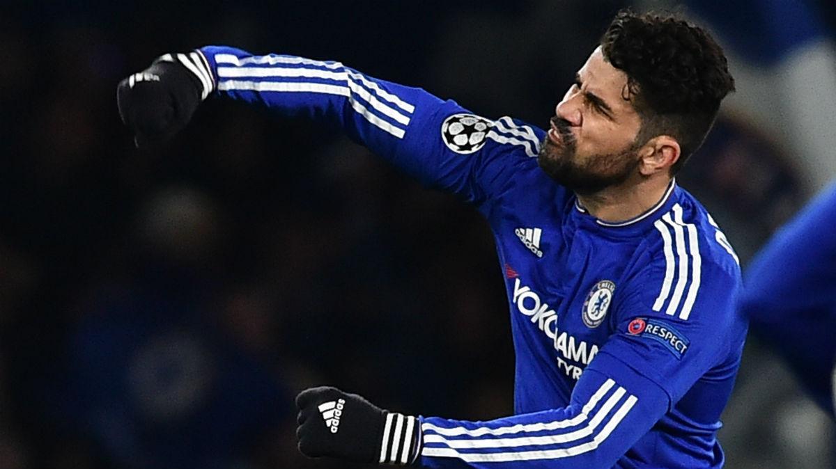Diego Costa durante un partido con el Chelsea. (AFP)
