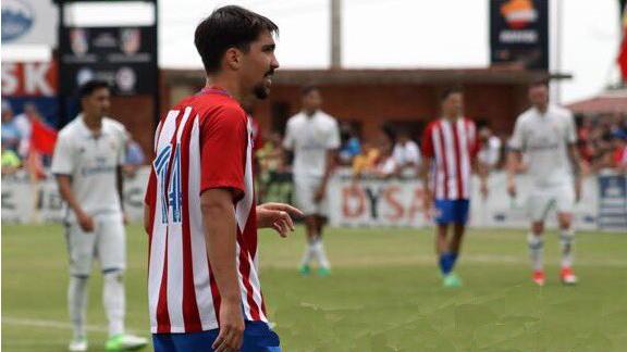 José María Relucio 'Relu', en un partido del juvenil del Atlético.