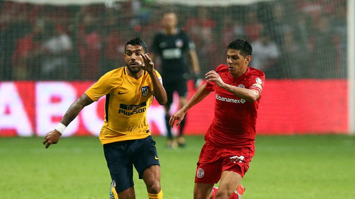 Augusto Fernández durante su primer partido tras la lesión. (atleticodemadrid.com)